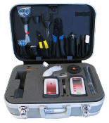 Fiber Optic Termination ToolBox with Testers